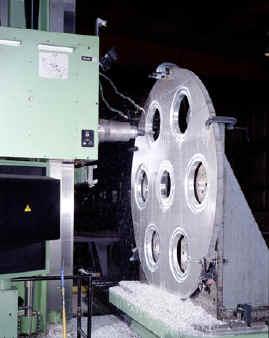 Horizontal Boring Mill, Machining a Big Aluminum Disk