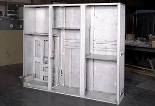 Electrical Control Cabinet – Three Door – in construction